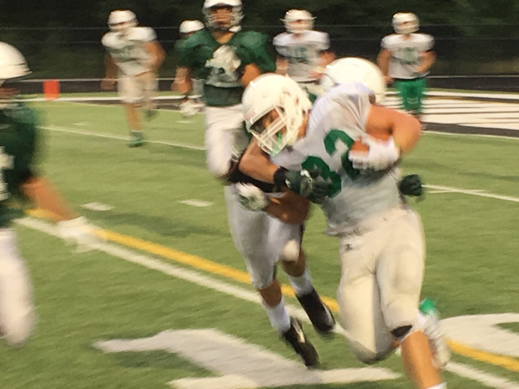 . Mark Podolski - The News-Herald Photos from the Mayfield vs. Aurora scrimmage on Aug. 16.