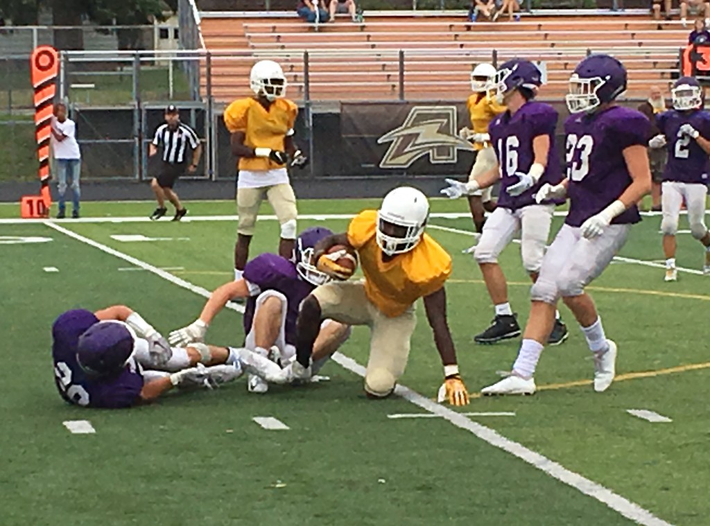 . Mark Podolski - The News-Herald Photos from the Brush vs. North Royalton scrimmage on Aug. 16 in Lyndhurst.