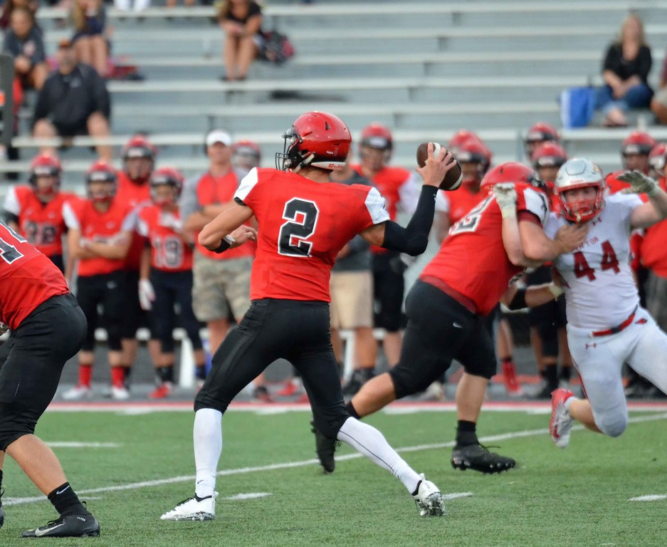 . Paul DiCicco - The News-Herald Action from the Chardon-Mentor scrimmage at Jerome Osborne Stadium on Aug. 17.
