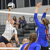 Lorain''s Sarah Leighliter goes against Open Door's Caily Stintsman.  Eric Bonzar -- The Morning Journal