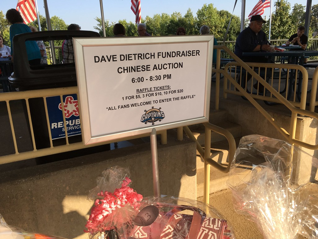 . Mike Payne - The News-Herald A fund raiser for Eastlake resident Dave Dietrich was held Aug. 23 at the Captains game.