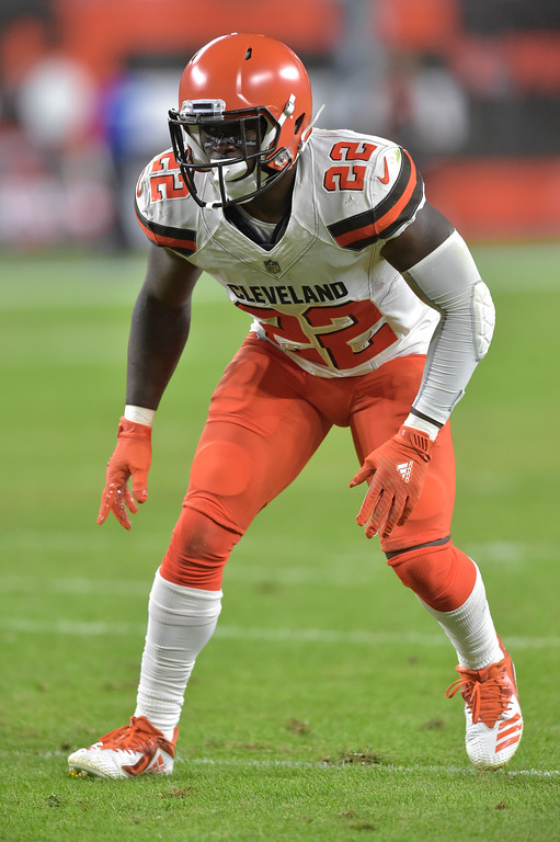 . Cleveland Browns defensive back Jabrill Peppers keeps watch during the first half of an NFL preseason football game against the Philadelphia Eagles, Thursday, Aug. 23, 2018, in Cleveland. (AP Photo/David Richard)