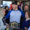 (Mark Podolski - News-Herald) Stipe Miocic with his mother, Kathy Miocic, left, and family members on May 16.