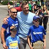 Mark Podolski - The News-Herald<br /> Stipe Miocic with fans June 5 at the Willowick Parade.