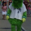 Mark Podolski - The News-Herald<br /> Captains mascot Skipper at the Willowick Parade June 5.