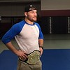 (Mark Podolski - News-Herald)<br /> Stipe Miocic during a TV interview.