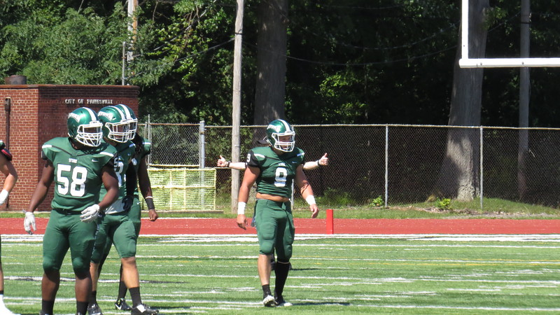 Brian Havrilla - Lake Erie College<br /> Lake Erie's Nick Kirschner (Mentor), right, against Northern Michigan Sept. 3.