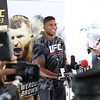 Tim Phillis - The News-Herald<br /> Alistair Overeem after his workout Sept. 7 at Gateway Plaza.
