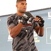 Tim Phillis - The News-Herald<br /> Alistair Overeem during his workout Sept. 7 at Gateway Plaza.
