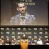 Tim Phillis - The News-Herald<br /> CM Punk answers a question at a UFC 203 news conference Sept. 8 at Quicken Loans Arena.