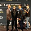 Tim Phillis - The News-Herald<br /> CM Punk, left, and Mickey Gall at a UFC 203 news conference Sept. 8 at Quicken Loans Arena.