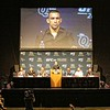 Tim Phillis - The News-Herald<br /> Fabricio Werdum on the big screen at a UFC 203 news conference Sept. 8 at Quicken Loans Arena.