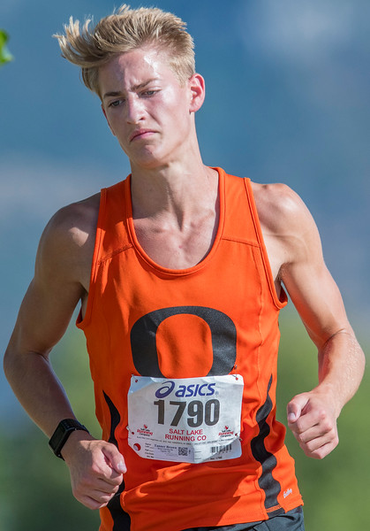 Local high schools compete in the  Weber City and County track meet at the Weber County Fairgrounds in Ogden on Wednesday September 13, 2017.