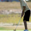 Boulder's Kevin Klatman putts on 15 at Coal Creek Golf Course in Louisville, Colorado September 21, 2010.  CAMERA/Mark Leffingwell