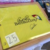 Mark Podolski - The News-Herald<br /> An autographed Arnold Palmer flag up for auction at the Bret Poklar Benefit Sept. 24 at Lost Nation Golf Course.