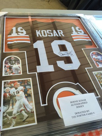 Mark Podolski - The News-Herald<br /> A Bernie Kosar autographed jersey on auction at the Bret Poklar Benefit Sept. 24 at Lost Nation Golf Course.