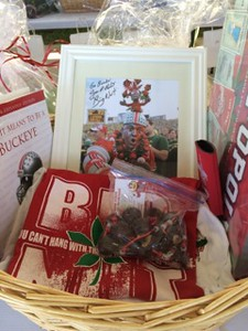 Mark Podolski - The News-Herald<br /> An Ohio State gift basket at the Bret Poklar Benefit Sept. 24 at Lost Nation Golf Course.
