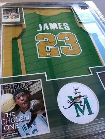 Mark Podolski - The News-Herald<br /> A LeBron James autographed jersey on auction at the Bret Poklar Benefit Sept. 24 at Lost Nation Golf Course.