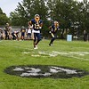 Tim Phillis - The News-Herald<br /> A logo on Euclid's field honoring Andre Jackson.