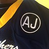 "John Kampf - The News-Herald<br /> The Euclid Panthers will wear ""AJ"" patches on the shoulder of their jerseys in honor of teammate Andre Jackson."