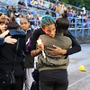 Tim Phillis - The News-Herald<br /> Emotional hugs were shared during a tribute to late Euclid football player Andre Jackson.