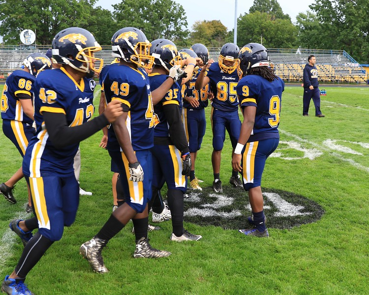 Tim Phillis - The News-Herald<br /> Euclid players get ready for their game Sept. 30 vs. Strongsville.