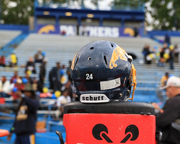 Tim Phillis - The News-Herald<br /> Andre Jackson's helmet