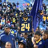 Tim Phillis - The News-Herald<br /> Late Euclid football player Andre Jackson is honored on Sept. 30.