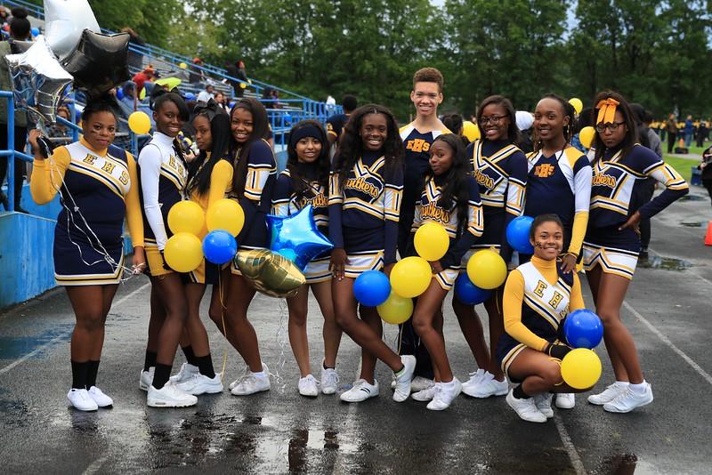 Tim Phillis - The News-Herald<br /> Euclid cheerleaders
