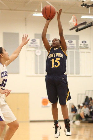 Stony Point's Taniesha Washington attempts a jump shot agianst Cedar Ridge on Jan. 29 edit