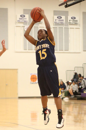 Stony Point's Taniesha Washington attempts a jump shot agianst Cedar Ridge on Jan. 29