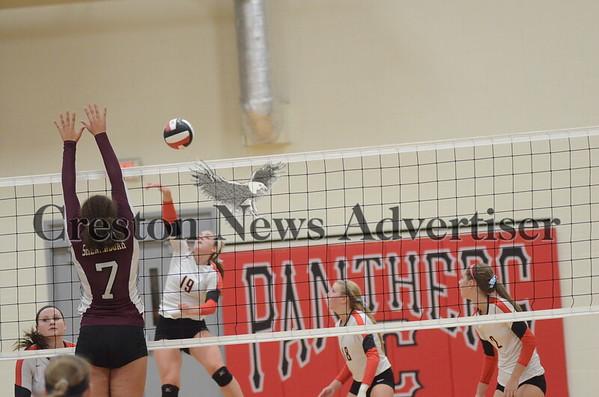 10-10 Creston-Shenandoah volleyball