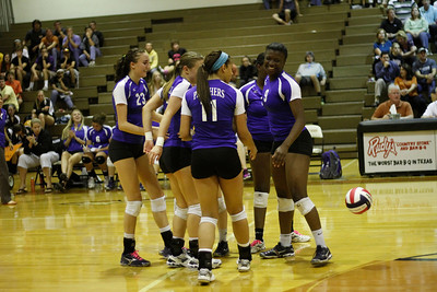 Pflugerville celebrates a point against Westwood High School on Tuesday at Westwood High School.
