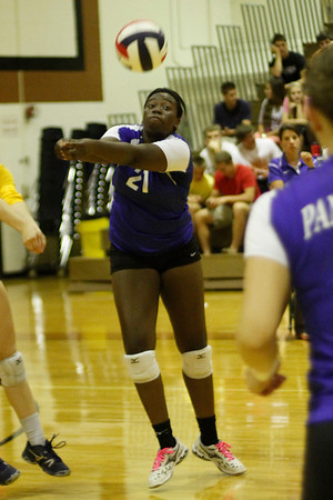 Pflugerville's Raven Swain saves the ball against Westwoon on Tuesday at Westwood High School.