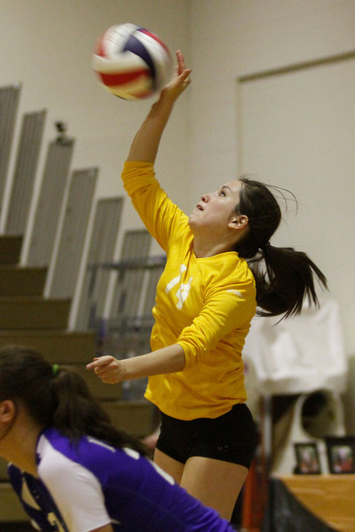 Pflugerville's Kate Palladino serves against Westwood on Tuesday at Westwood High School.