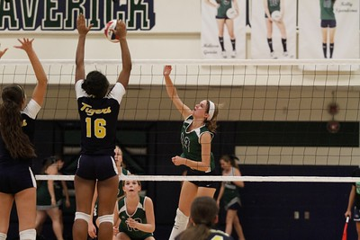 McNeil's Sammy Snook goes for the kill against Stony Point on Tuesday at McNeil High School.