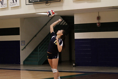 Stony Point's Isabella Andrino serves against McNeil on Tuesday at McNeil High School.