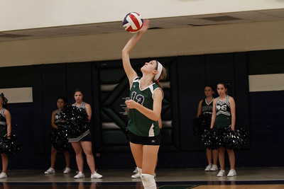 McNeil's Sammy Snook serves against Stony Point on Tuesday at McNeil High School.