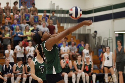 McNeil's Kara Teal returns the ball against Stony Point on Tuesday at McNeil High School.