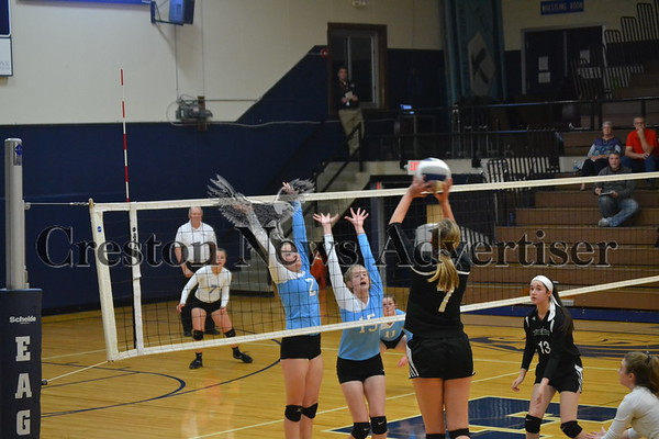 10-28 East Union - Grand View Christian volleyball