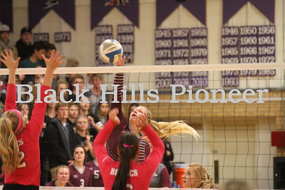 10-9-18 Spearfish volleyball @ Belle  Fourche