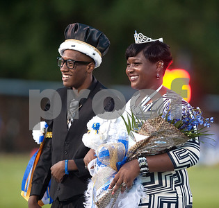 Jacksonville's Dede Hamilton and Taylor Whitaker are crowned homecoming king and queen Friday night at the Tomato Bowl.  (Sarah A. Miller/Tyler Morning Telegraph)