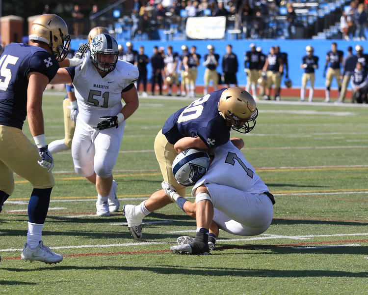 Tim Phillis - The News-Herald<br /> Action from the John Carroll-Marietta football game on Oct. 8 in University Heights.