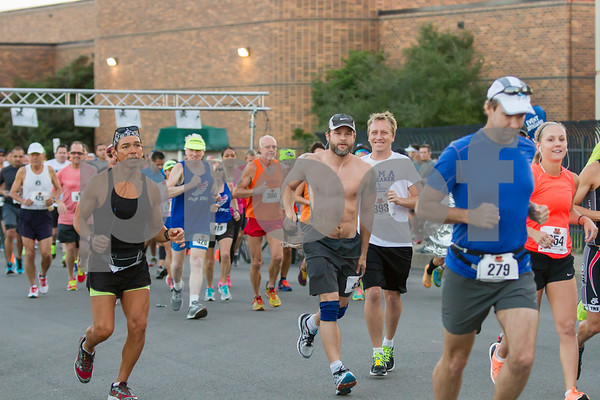 268 runners took part in the 2015 Rose Marathon in Tyler Texas.  Photo by John Murphy