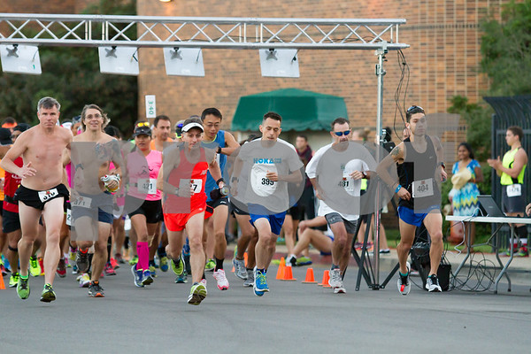 It was a cool 60 degrees when 268 runnersstarted the 2015 Tyler Rose Marathon  photo by John Murphy
