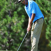 Peak to Peak High School's Behrod Keshtaver putts at the 10th hole during the 2012 CHSAA 3A State Championship held at Denver's Pinehurst Country Club on Monday, October 1, 2012. (Kira Horvath/Daily Camera)