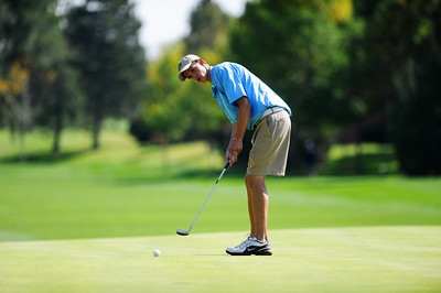 Peak to Peak High School's Max Clark putts on the 10th hole during the 2012 CHSAA 3A State Championship held at Denver's Pinehurst Country Club on Monday, October 1, 2012. (Kira Horvath/Daily Camera)
