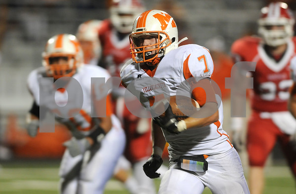 photo by Sarah A. Miller/Tyler Morning Telegraph  Mineola's Rhett Self carries the ball in the first half of their game at Van Friday night.