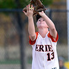 Erie's Claire Nibbe catches a pop-up against Ponderosa during their 2012 State Softball game in Aurora, Colorado October 19, 2012. BOULDER DAILY CAMERA/ Mark Leffingwell