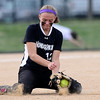 Niwot's Bailey Kleespies digs out a ground ball against Berthoud during their 2012 State Softball game in Aurora, Colorado October 19, 2012. BOULDER DAILY CAMERA/ Mark Leffingwell